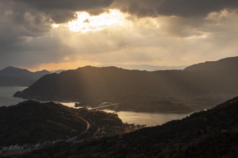 伯方島・鉾山の夕景